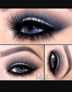 GORGEOUS GRAY SMOKEY EYES