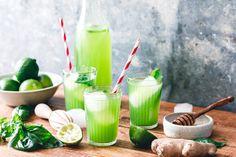 Lust auf einen leckeren, erfrischenden Sommerdrink? Probier' doch mal unsere schnelle Basilikum-Limonade mit Ingwer und Limette! So gut ?