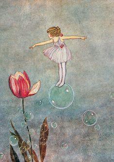 ! krásný tajná-world ... prostě plovoucí ~ ~ svoboda plovák plovoucí bublina Muse ... anna-Therese: Ida Rentoul Outhwaite