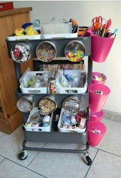 Carrito Ikea+accesorios (Raskog Cart)
