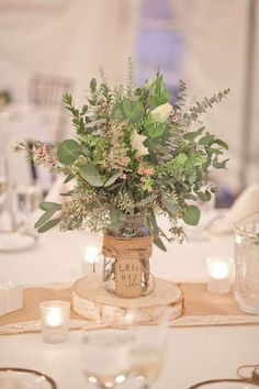 Rustic Fall Wedding Centerpiece Ideas - Beautiful Rustic Fall Wedding Centerpiece Ideas, Wedding Decorations for Long Tables Autumn Table Centerpieces
