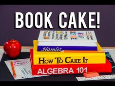 Stacked Back To School Book Cakes with Gumpaste School Supplies – HOW TO CAKE IT