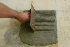 Installing Slate Floor Tiles: Spread The Mortar