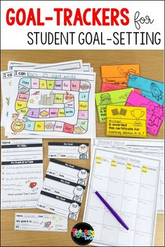 Helping your students set their own goals can be a powerful tool in your primary classroom Tracking Student Progress, Student Goals, Goal Tracking, Data Binders, Data Notebooks, Reading Goals, Student Reading, Guided Reading, Kindergarten Goals