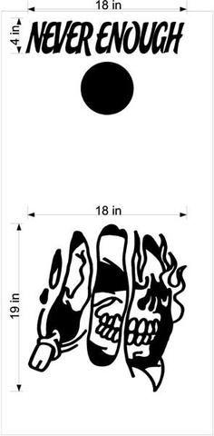 Skull Skulls Cornhole Board Decals Flag Stickers Graphics Wrap Bag Toss Bean Baggo SK07