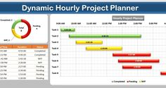 Download the practice file for Dynamic Hourly Project Planner (Gantt Chart)