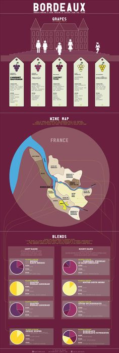 Bordeaux - The basics Hi (Belgian) wine lovers, with the great Apéro Vintage de Bordeaux events in sight in Brussels, Leuven, Antwerp and Ghent - it's time to talk a bit more about the vineyards of. Wine Infographic, Wine Facts, Wine Vineyards, Wine Education, Wine Guide, Sweet Wine, French Wine, In Vino Veritas, Italian Wine