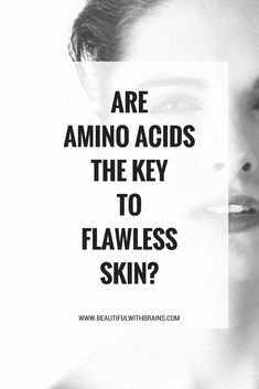 Why you should add amino acids to your #skincareroutine #skincarescience