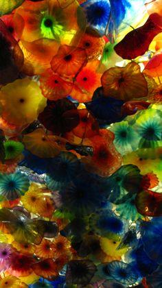 Las Vegas, beautiful blown glass flowers