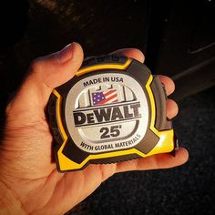 New #DeWalt XP Tape!! Love it!  Tougher case, Tougher blade coating and tougher hook! Now i can replace my #stanleyfatmax #tape!  #measuringtape #tapemeasure #dewaltxp #dewalttough #dwtough #toughinthenorth #carpenter #pros #construction #jobsite #workshop #woodshop #wood #woodworking #measuring #inches #madeinusa #qualitytools #tool #tools #toughbeyondmeasure #nationaltapemeasureday @dewalt_ca @dewalttough