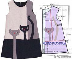 Платье для девочки с котами