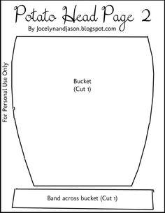 Mr Potato Head Accessory Bucket Template