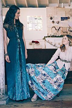 Icefall Maxi Dress, Sequin Flurry Cardigan Novella Ball Skirt - Anthropologie