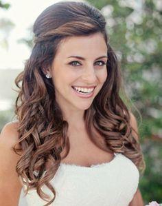 Half updo with beautiful curls