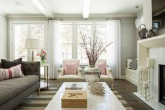 Kellogg Road Residence - traditional - living room - minneapolis - Martha O'Hara Interiors