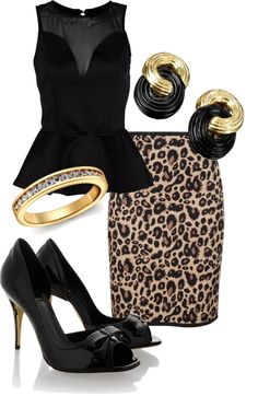 """for a night out #3"" by yolandi-barnard on Polyvore"