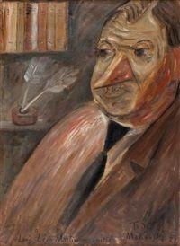 Portret krytyka Louisa Leona Martina by Tadeusz Tade Makowski