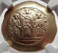 JESUS CHRIST Romanus IV Eudocia & Sons ANCIENT Gold Byzantine Coin NGC MS i64281