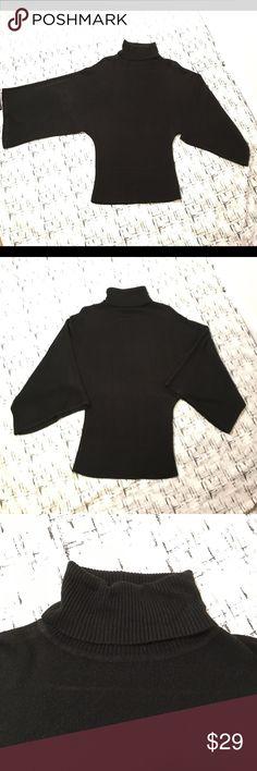 BCBGMaxAzria Black Sweater Cowl Neck Kimono sleeve Gently used with no flaws Please see photos for exact details.   • BCBG Max Azria Cowl Neck Sweater • Size Medium • Black • Kimono Style Sleeves • Wide Ribbed Waistband • 100% Acrylic...So Soft & Luxurious BCBGMaxAzria Sweaters Cowl & Turtlenecks