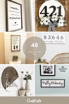 It's the time of year when you can make handmade crafts and gifts for the upcoming holiday season. Here's the best Handmade Craft Ideas to get you inspired. | Shop Now: CraftCuts.com Handmade Crafts, Easy Diy Crafts, Diy Craft Projects, Decor Crafts, Diy Home Decor, Craft Ideas, Decor Ideas, Wooden Monogram, Merry Christmas Sign