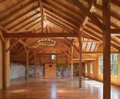 Sweetwater Farm Winery in Glen Mills, Pa - A reception hall with a new post-and-beam frame provides a space for hosting weddings, parties, and corporate events. Glen Mills Pa, Farmhouse Architecture, Barn Renovation, Hall Design, Post And Beam, Barn Lighting, Pool Houses, Barn Houses, House And Home Magazine