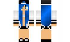 minecraft skin blue girl