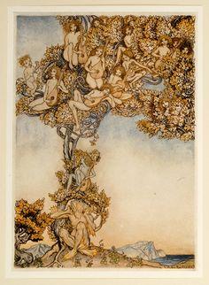 from ''TheTempest'', illus. Arthur RACKHAM | David Brass Rare Books