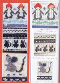 View album on Yandex. Fair Isle Knitting Patterns, Knitting Charts, Knitting Designs, Knitting Stitches, Knitting Projects, Baby Knitting, Cross Stitch Baby, Cross Stitch Animals, Cross Stitch Patterns