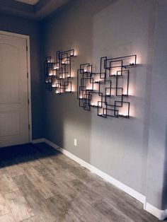 Circuit Metal Wall Candle Holder from Crate and Barrel Candle Wall Decor, Wall Candle Holders, Mirror Wall Decorations, Living Room Candles, Living Room Decor, Modern Wall Decor, Metal Wall Decor, Interior Walls, Metal Walls