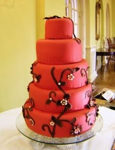 red wedding cakes weddings-4-designs weddings-4-designs
