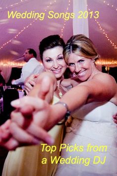 Wedding Music Master Class 2013 | NJ DJ   Check out our wedding music master class of ceremony music, cocktail hour tunes, grand entrance music, first dance songs, parent dances, cakecutting music, ballads and dance floor scorchers ! - this is such a very good long list!