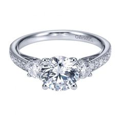 1.75cttw 3-Stone Plus Trellis Diamond Engagement Ring with Bead Set Side Diamonds from Mullen Jewelers