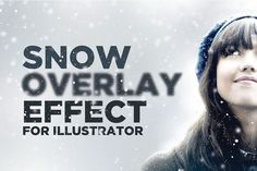 Snowy Overlay Effect for Illustrator by DesignSomething on Creative Market