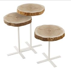 wood round tables