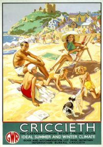Criccieth. GWR Travel Poster