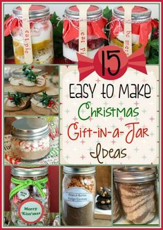 15 Easy to Make Christmas Gift-in-a-Jar Ideas If you're looking for some great. 15 Easy to Make Christmas Gift-in-a-Jar Ideas If you're looking for some great DIY gift ideas for Mason Jar Christmas Gifts, Neighbor Christmas Gifts, Inexpensive Christmas Gifts, Mason Jar Gifts, Christmas Gifts For Friends, Homemade Christmas Gifts, Homemade Gifts, Christmas Diy, Gift Jars
