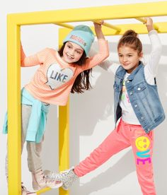 Girls fashion | Kids' clothes | Activewear | Active pants | Active top | Beanie | Denim vest | The Children's Place