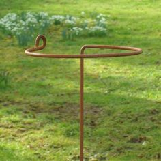 Hand made, rusted, metal wrap around plant supports. Arrondi Pack of five. 100 cm by RusticksPlantStakes on Etsy https://www.etsy.com/listing/185201858/hand-made-rusted-metal-wrap-around-plant