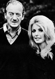 the60sbazaar:  Sharon Tate with David Niven