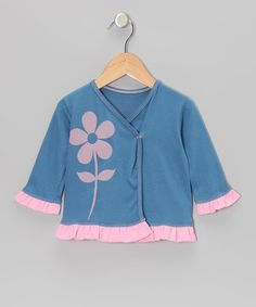Take a look at this Indigo & Rose Pink Flower Ruffle Organic Wrap Top - Infant & Toddler by Kids Organic on #zulily today!