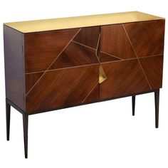 """Giò"" Royal Oak Marquetry Cabinet by Achille Salvagni"