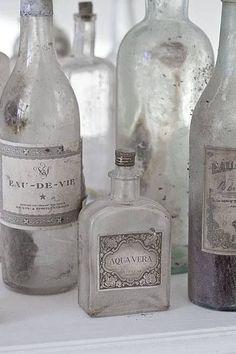 Grey Vintage Bottles
