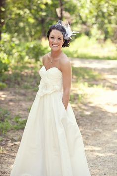 Cute Wedding dress with pockets, but I would not have the flower in front of the dress  by josie.lane.5