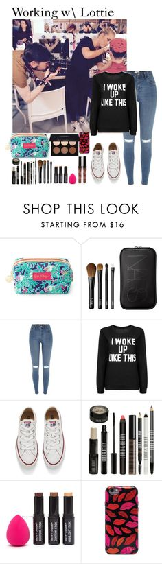 """Working with Lottie"" by music-lover1d ❤ liked on Polyvore featuring Lilly Pulitzer, NARS Cosmetics, River Island, Converse, Lord & Berry, Diane Von Furstenberg, Anastasia Beverly Hills, LFW, onedirectionoutfits and 1DFamily"