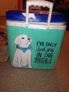 dog beers cooler