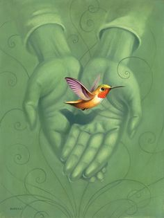 Conceptual, editorial, book and poster illustration by Chris Buzelli Bigfoot Hunter, Baby Hummingbirds, Film Festival Poster, Drawn Together, Hummingbird Tattoo, American Gods, Flower Show, Illustrations, Mandala
