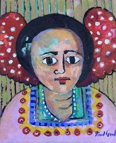 Fred Gowland 'Ethiopian Angel' Oil on Canvas - in the collection of a treatment centre in Thailand