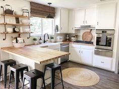 63 Trendy home renovation ideas remodeling butcher blocks Kitchen Redo, New Kitchen, Kitchen Dining, Kitchen Remodel, Small Farmhouse Kitchen, Home Renovation, Home Remodeling, Sweet Home, Industrial Interior Design