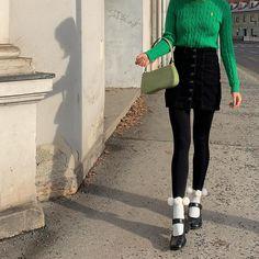 @supergurl via Instagram Socks And Heels, Ankle Socks, Knee High Stockings, Scandi Chic, Recycled Yarn, Mood, Knitting Socks, Clothing Items, Sustainable Fashion