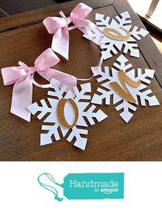 Winter Onederland Snowflake Highchair Banner in Pink and Gold. One High Chair Banner. Pink and Gold Birthday Party Decorations. from Confetti Momma https://www.amazon.com/dp/B01MFF1BVW/ref=hnd_sw_r_pi_dp_MoGkybT84A8FD #handmadeatamazon